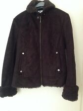 ladies faux suede jacket