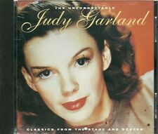 THE UNFORGETTABLE JUDY GARLAND CD - CLASSICS FROM THE STAGE & SCREEN