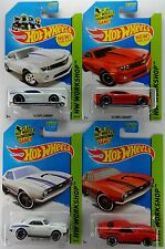 "2014 Hot Wheels - '68 & '14 CHEVY COPO CAMARO ""White & Red"" (1x each) 4 Car LOT"
