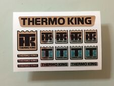 TAMIYA 1/14 REEFER TRAILER 56319 chrome sticker set for front fridge THERMO KING