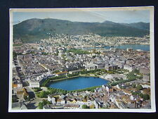 NORWAY VIEW OF THE TOWN AND LITTLE LUNGEGARD LAKE 1960 POSTCARD