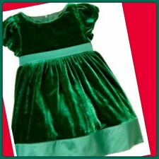 NWT 3-6 Gymboree HOLIDAY CELEBRATIONS  GREEN VELVET Formal DRESS Short Sleeve