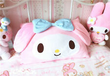 Kawaii Pink Bowknot Pillow Case Cover My Melody Kitty Face Home Decor Cover Only