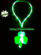 Light Up Flashig St. Patrick's Day Shamrock Necklace