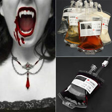 Blood Bag For Hallowen Energy Drink PVC Vampire Prop Pouchs Club Party Cosplay`