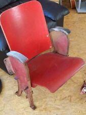 alte Kinostühle Holz Gusseisen 2er Vintage aus Frankreich antikes Kurhaus