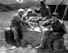 WWII Photo US Army Nurses Normandy June 1944  WW2 B&W World War Two/ 1371