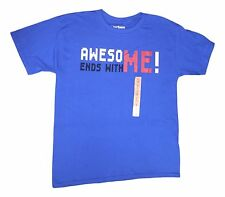 Minecraft Big Boys Medium Blue Awesome Ends with Me Short Sleeve T-Shirt NEW