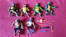 ¡LOTE 6! TORTUGAS NINJA 1980 retro action figure JOB LOT collection Ninja Turtle