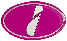 SUBARU IMPREZA STI PINK 'I' BADGE GRILLE EMBLEM FOR 92-00 GC8 WRX STI P1 ETC