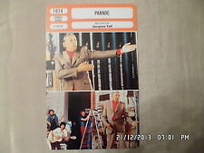 CARTE FICHE CINEMA 1974 PARADE Jacques Tati