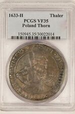 Poland 1633 H Thaler City of Thorn! PCGS VF35 - Extremely Rare!