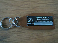 Vintage Look Acura Data Plate Leather Keychain NSX Integra CL RL TL MDX TSX RSX