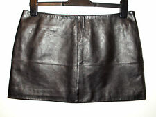 Jane Norman real leather mini skirt black size 12