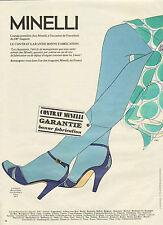 Publicité 1981 Chaussures MINELLI  Sandale collection mode