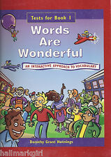 Words Are Wonderful Book 1 TESTS by Dorothy G. Hennings Third Grade