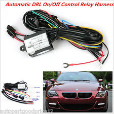 Car LED Daytime Running Lamp Fog Light DRL Relay Harness On Off Control Dimmer
