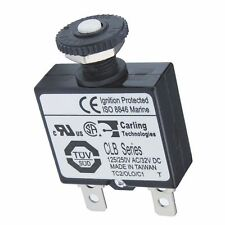 BSS 7054 Push Button Reset Only Quick Connect Circuit Breaker - 10 Amp