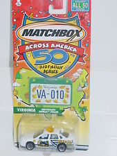 MATCHBOX ACROSS AMERICA 50TH BIRTHDAY #10 VIRGINIA CHEVROLET IMPALA POLICE