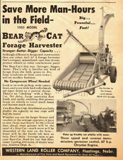 1951 vintage farm Ad, Bear Cat Forage Harvester, Western Land Roller Co.- 011814