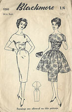 1950s Vintage Sewing Pattern B34 DRESS (1015)