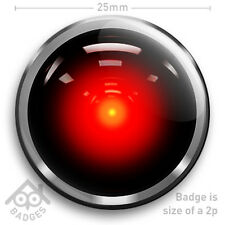 "2001 A Space Odyssey HAL 9000 Arthur C Clarke 25mm 1"" Badge"