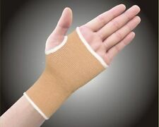 Elastic Beige Palm Glove Hand Wrist Support Arthritis Brace Sports Injury Sprain