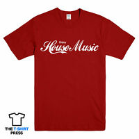 ENJOY HOUSE MUSIC PRINTED T SHIRT DANCE TRANCE IBIZA FESTIVAL ELECTRONIC TEE
