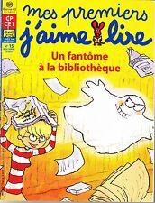 MES PREMIERS J'AIME LIRE * Un Fantôme à la Bibliothèque Sans K7 * lecteurs CP 15