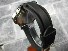 22mm HQ Soft PU Rubber Diver Strap Black Tang Watch Band PANERAI 22 mm