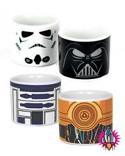 OFFICIAL STAR WARS DARK SIDE LIGHT SIDE SET OF FOUR EGG CUPS NEW IN GIFT BOX