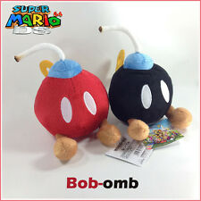 2X Super Mario Bros Plush Bob-omb Bomb Soft Toy Doll Stuffed Animal Red Black 5""