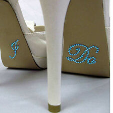 I DO Blue Bridal Wedding Shoe Decoration diamante Sticker Gift UK FREE POST