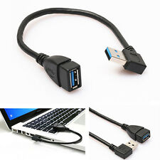 USB 3.0 Female to Male A Right Angle 90 Degree Adapter Extension Cable Loud