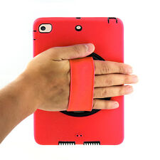 Red Hybrid Heavy Duty Protection Case Stand Cover Box For Apple iPad Mini 2 3