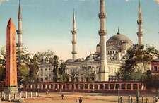 Istanbul Turkey Constantinople Sultan Ahmed Mosque Antique Postcard K10740