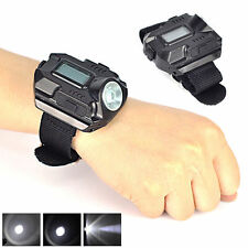 Cool Tactical CREE LED 1500 Lm Display Rechargeable Wrist Watch Flashlight Lamp