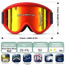 ZIONOR Lagopus Snowmobile Snowboard Skate Ski Goggles with Detachable Lens new