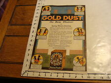 vintage GOLD DUST large size ad, 1916 cool but torn
