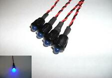 4 x FLASHING BLUE LED 6V (5mm) WITH BLACK BEZEL