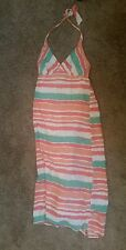 OLD NAVY STRIPED HALTER DRESS Womens Size Large L
