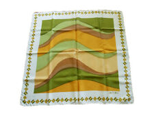 Womens SALTERIO Made in Italy Wave Hand Rolled Silk Scarf Wrap Shawl 30x30 S25
