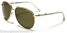 Sunglasses New Polarized Aviator Metal Shades UV400 Men Women Gold White B1LOD