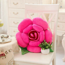 Valentine's Day Gift 3D Rose Flower Pillow Plush Car Chair Cushion Wedding Decor