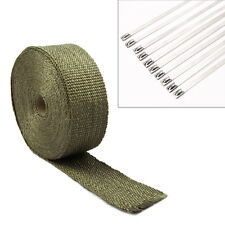 Top  Quality Exhaust Manifold Downpipe Heat Wrap 10m & 10 30cm Ties UK