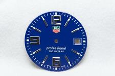 Genuine Gents Tag Heuer Blue Professional Dial - Silver Numbers - NOS - 30mm