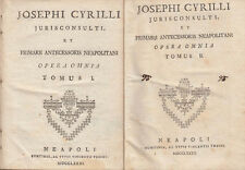 JOSEPHI CYRILLI OPERA OMNIA INSTITUTIONES JURIS CIVILIS INSTITUTIONES CANONICAE