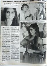 ROMINA POWER =  1 page 1985  SPANISH CLIPPING / RITAGLIO 1 PAGINA