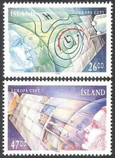 Iceland 1991 Europa/Space/Maps/Weather/Meteorology/Communications 2v set n41357