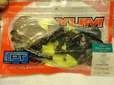 "Yum 3"" Houdini Crab, Black w/Chartreuse Tail, #YHC3206, 10 Count (New/Saltwater)"